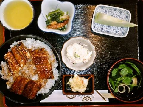 うなぎ丼定食¥980(【岐阜県羽島市】魚万うおまん)