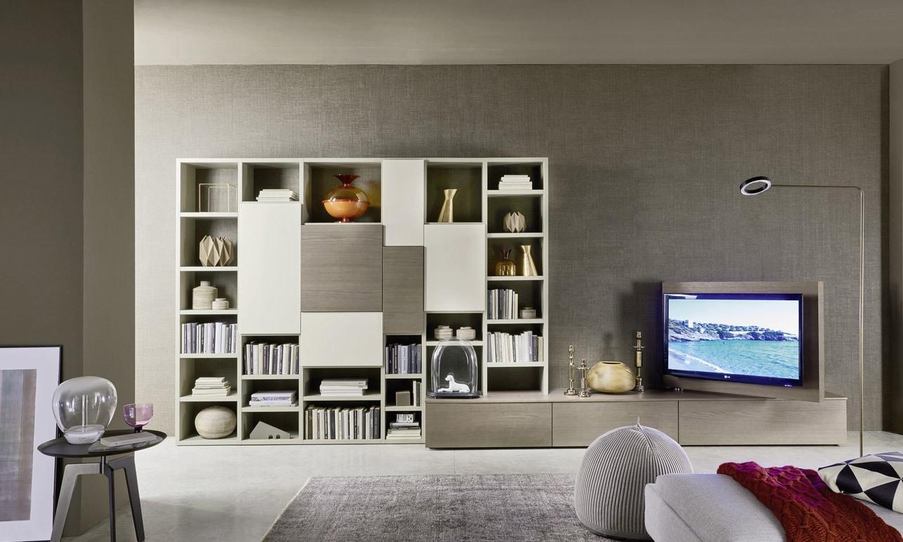 soggiorni a parete, libreria, porta tv rovere cenere e bianco.jpg