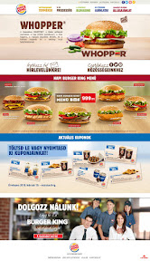 Website design a Burger King-nek.