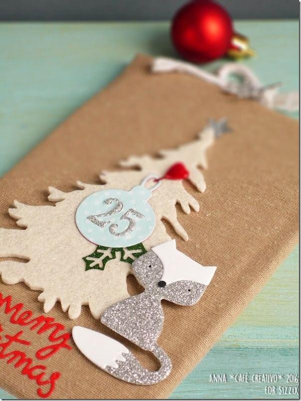 Decorazione con albero di Natale con la Big Shot e Fustelle Sizzix