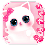 App Pink Cute Kitty Launcher Theme Live Wallpapers 1.0 APK for iPhone