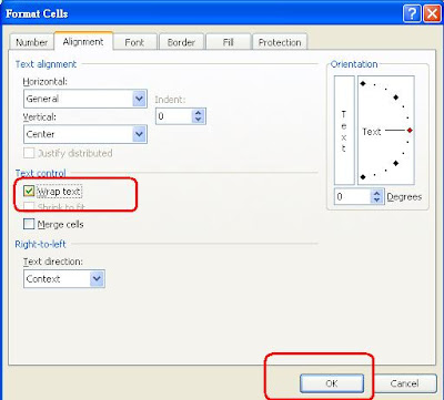 how to move to another line in excel cell