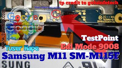 Edl-Test-Point-Samsung-M11-(M115F)-edl-test-point