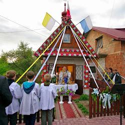 Msza przy kapliczce, rocznica pacyfikacji 09.05.2014