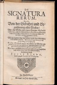 Cover of Jakob Bohme's Book De Signatura Rerum, Das Ist Von Der Gebuhrt und Bezeichnung Aller Wesen (1682,in German)