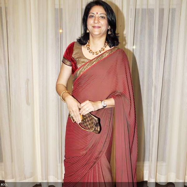 Priya Dutt looks elegant in sari at 4th NBC Awards, held in Mumbai, on May 1, 2013. (Pic: Viral Bhayani)