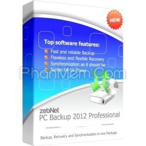 ZebNet PC Backup 2012 Professional – Sao lưu, khôi phục dữ liệu