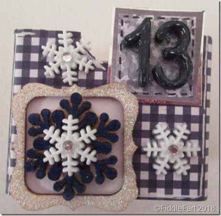 snowflake Advent Drawer