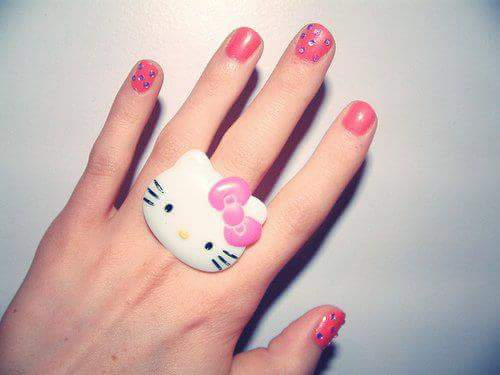 Pink Girl Nailpaint Photos