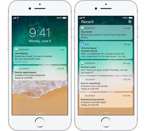 iOS 11 lockscreen