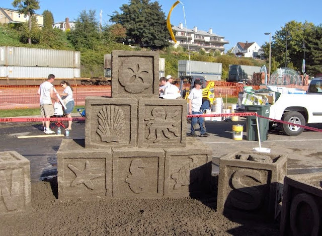 Sand in the City is the annual competition where 240 tons of sand is made into amazing creations. Credit: Bellingham Whatcom County Tourism