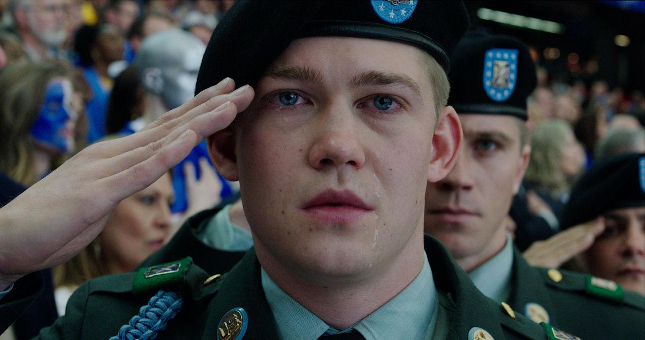 Billy Lynn (Joe Alwyn) in TriStar Pictures' BILLY LYNN'S LONG HALFTIME WALK. (Photo courtesy of Sony Pictures).