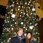 together at the Christmas tree in Den Haag, Zuid Holland, Netherlands