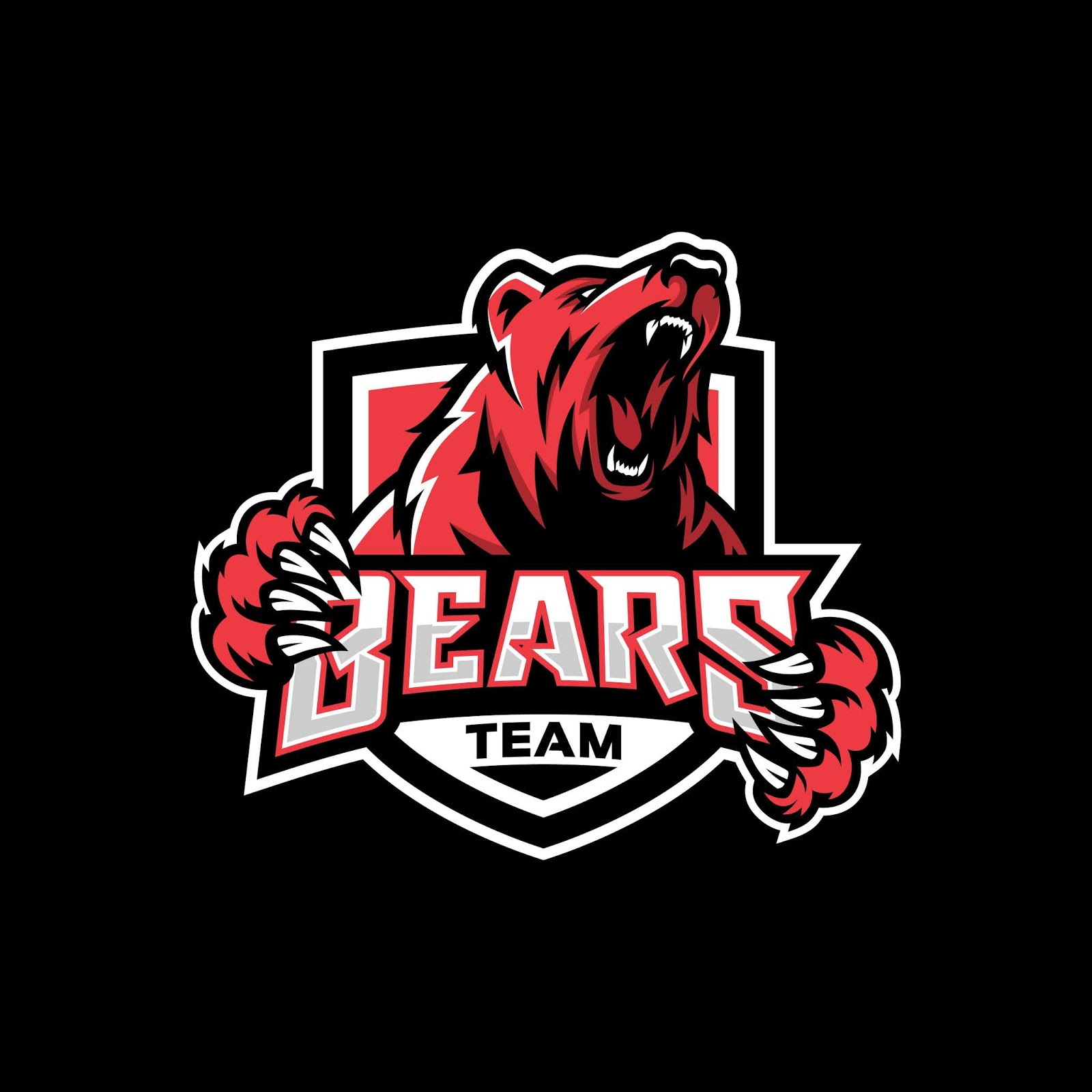 Modern Professional Grizzly Bear Logo Sport Free Download Vector CDR, AI, EPS and PNG Formats