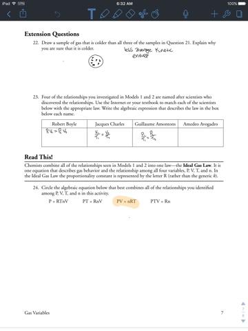 Sam Schoderbek Chemistry: Gas Variables Pogil