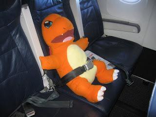 charmander on plane