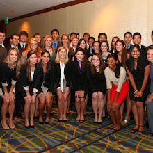 A group photo of the Dean's Scholars at the 2012 Benefactor Dinner.