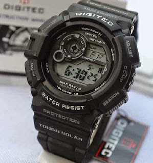 Jual jam tangan Digitec Mudman DG2028 black rubber grey Original