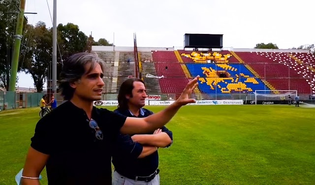"""Il sindaco Giuseppe Falcomatà allo Stadio Granillo: """"Vogliamo uno stadio all'altezza delle serie B, anzi di più"""""""