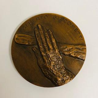 Margaret Cossaceanu Bronze Alberto Giacometti Medal