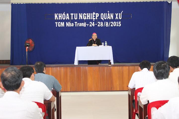 Khóa tu nghiệp quản xứ dành cho các Linh mục trẻ Giáo phận Nha Trang, tháng 8-2015