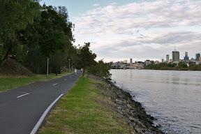 Riverwalk trail on Brisbane River