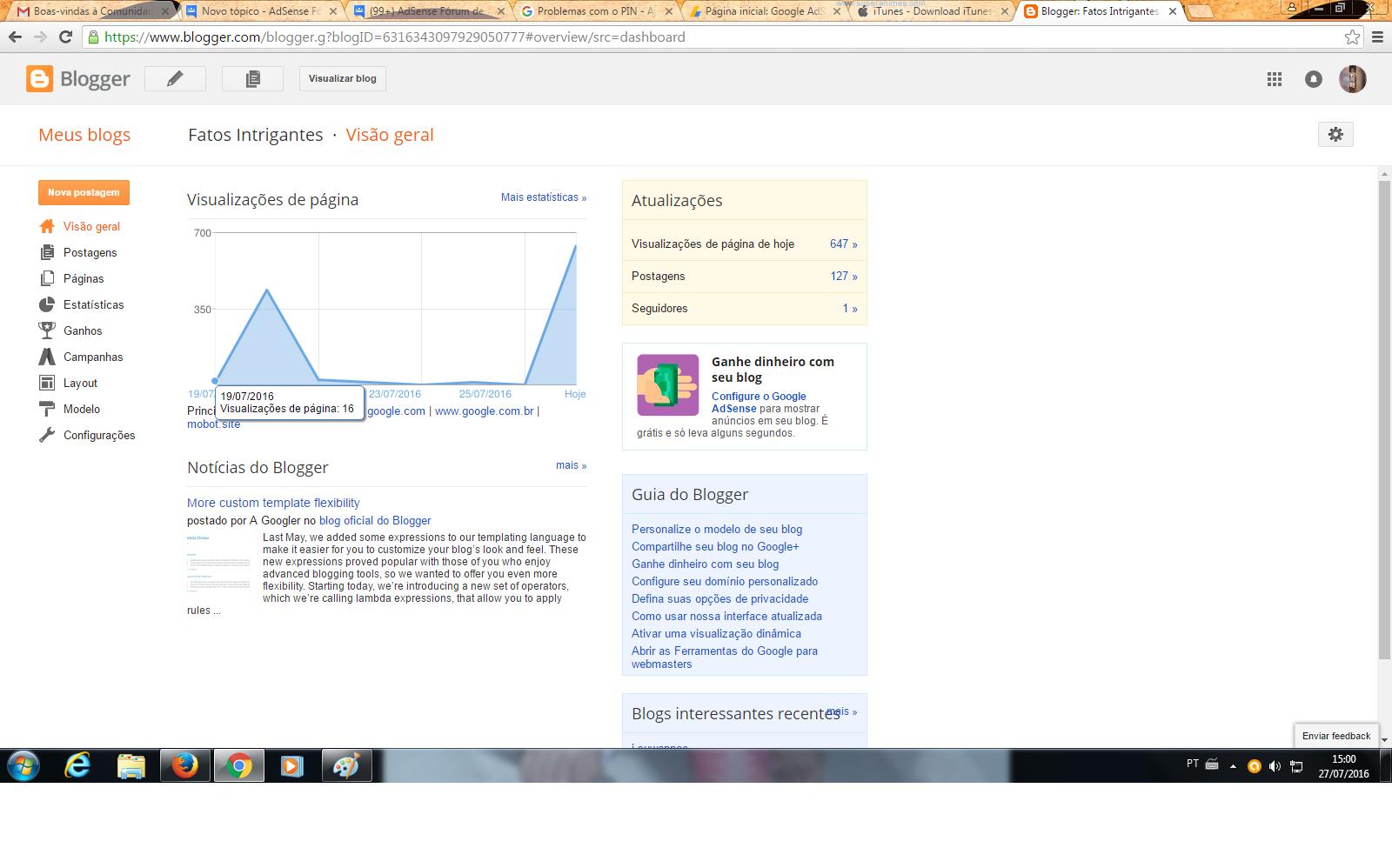 Porque no meu blogger ta marcando quase 700 views por dia e