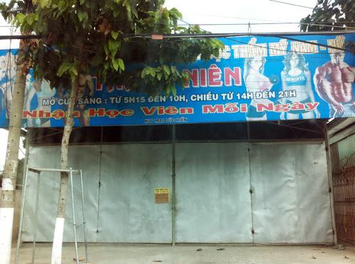Sau cái chết của nam học viên, CLB thể hình đã đóng cửa. Ảnh: Nguyệt Triều