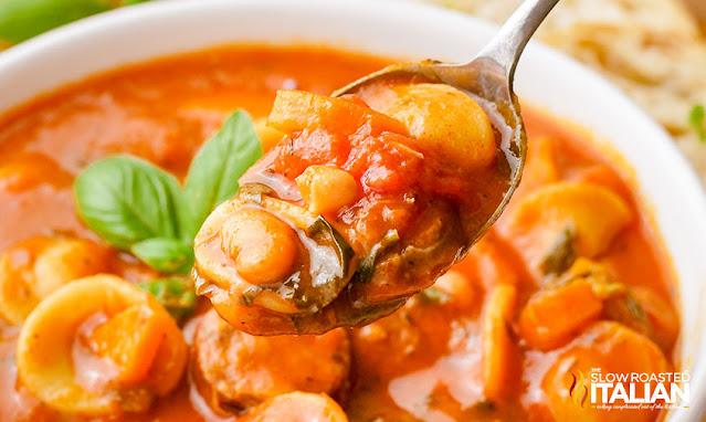 Hearty Italian Sausage Soup bowl