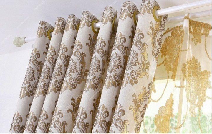 Rèm vải đẹp hà nội họa tiết đơn giản 12