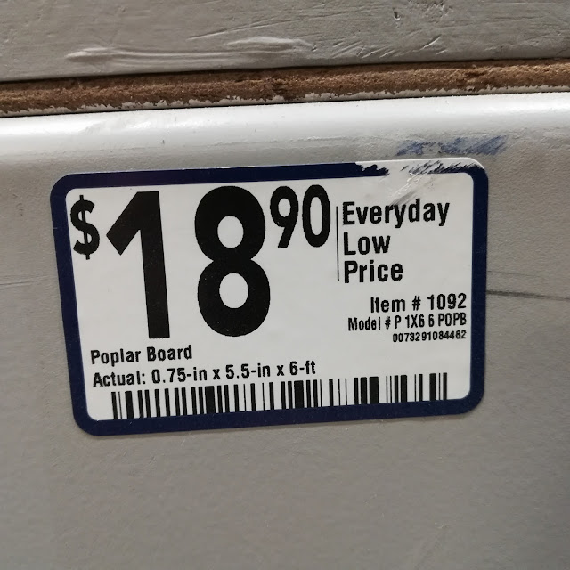 Price For An Eight Foot 1x6 Poplar Board At Lowe's