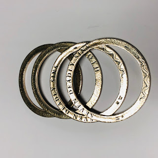 Sterling Silver Deadly Sin Bangles, Set of 4