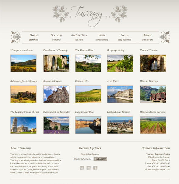 Tuscany WordPress