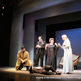 "Marty O'Connor, Tim Orcutt, Paul Dederick, Susan Katz and Cristine M. Loffredo in ""Mystery at Twicknam Vicarage"" as part of THE IVES HAVE IT - January/February 2012.  Property of The Schenectady Civic Players Theater Archive."