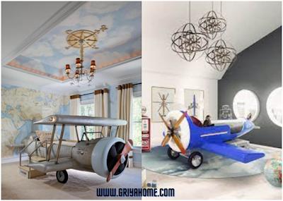 kamar anak tema pesawat