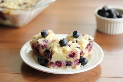 three blueberry pie bars