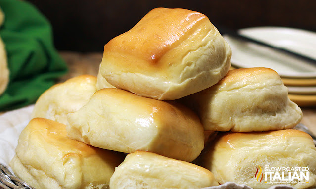 a stack of texas roadhouse rolls