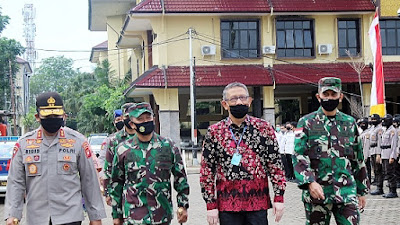 Kasdam XII/Tpr Hadiri Gerakan Bhakti Sosial Bhayangkari Peduli Covid-19