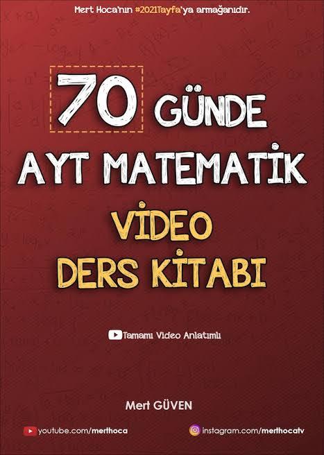 Mert Hoca - AYT Matematik - 70 Günde AYT Matematik