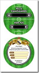 Invitaciones Real Madrid Tarjeta En Forma De Balón De