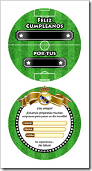Tarjeta Real Madrid Balon Pelota - Atras