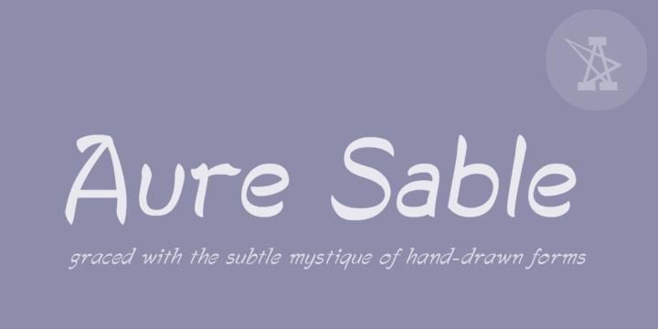 Download Aure Sable Font Family From Aure Font Design