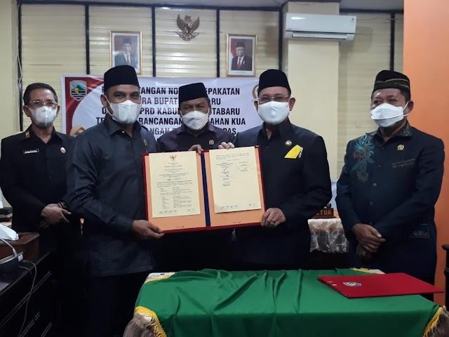 Legislatif - Eksekutif Kotabaru Teken Nota Kesepakatan Rancangan KUA PPAS 2021