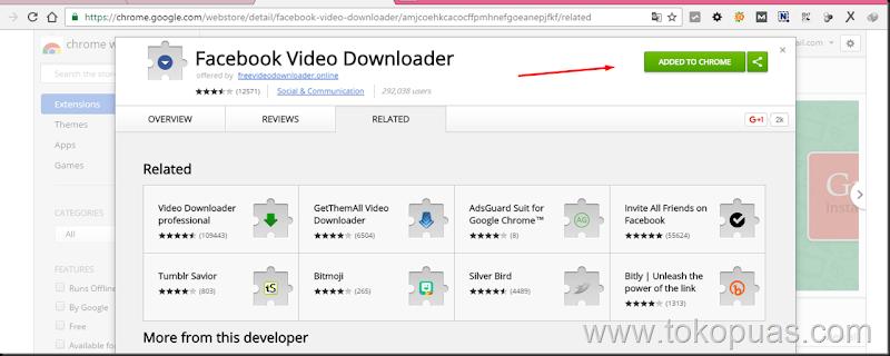 cara cepat simpan video facebook kedalam memory