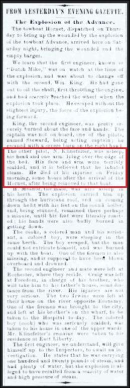 Klinefelter_ThePittsburghGazette_4 Feb 1862_pg 3