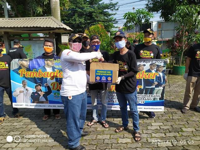 Aksi Nyata Cegah COVID-19, Karang Taruna Kelurahan Bantar Gebang Membagikan 5000 Masker dan Hand Sanitizer