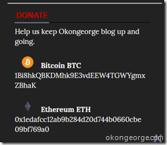 Bitcoin and Ethereum Donate Widget