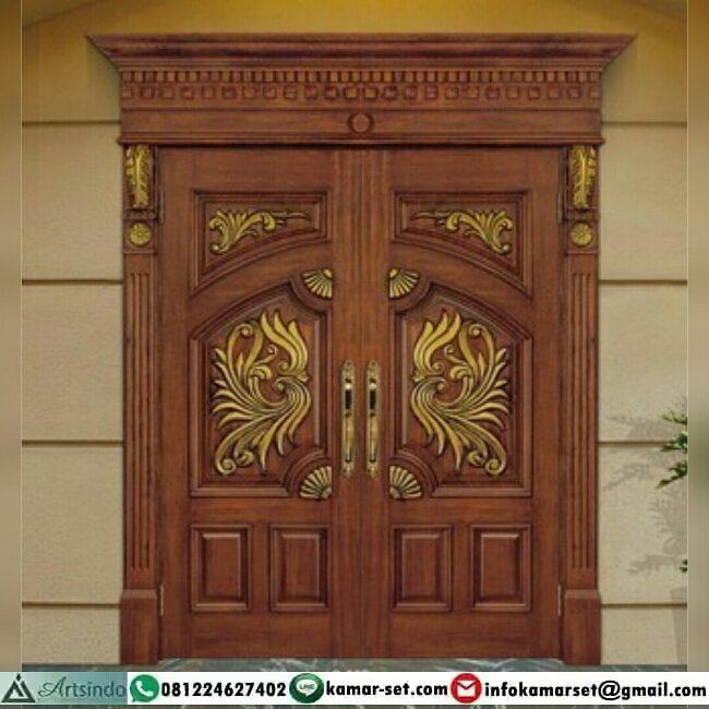 Desain pintu unik ukiran klasik