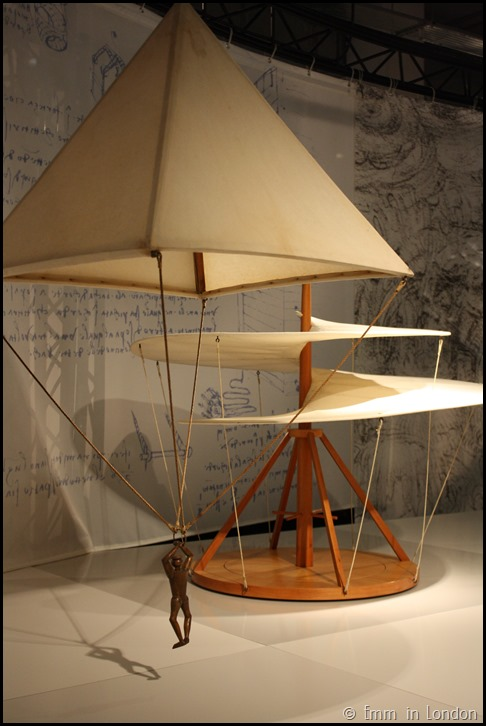 Model of Leonardo da Vinci Parachute and Aerial Screw