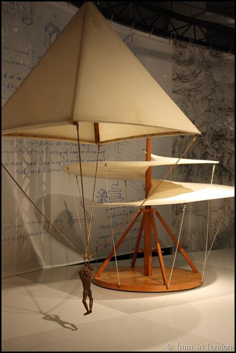Model of Leonardo da Vinci Parachute and Aerial Screw